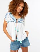 Tulum Embroidered Tie up Top