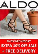 Aldo Shoes Sale - Extra 10% off + Free Delivery until Wednesday 8th