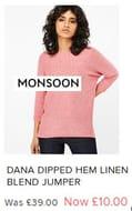 Pink Rasperry Jumper Was £39 Now £10 in Monsoon Sale - LOVE IT! (S, M, L, XL)