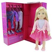 """Sindy 18"""" Tall Doll with Dancer Wardrobe Closet & Outfits Playset"""
