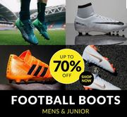 Up to 70% off FOOTBALL BOOTS until Sunday at Sports Direct