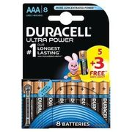 Duracell Ultra Power Alkaline 5+3 AAA Batteries - Pack of 8