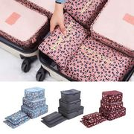 6PCS Travel Luggage Organizer Clothes Underwear Socks Packing Cube Storage Bag