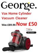 BARGAIN! Vax Power Compact Total Home Vacuum Cleaner £50 at Asda George
