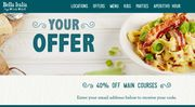 Sign up to Bella Italia and Get a Code for 40% off Mains