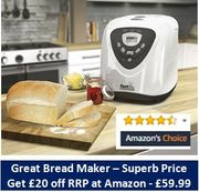 SAVE £20 at AMAZON Morphy Richards Fastbake Breadmaker 48281 - Price £59.99