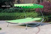 Double Outdoor Sun Lounger with Canopy
