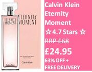 Calvin Klein Eternity Moment EDP Spray 100ml - 63% off & FREE DELIVERY!