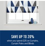 20% off over £25 Spend on Curtains & Blinds