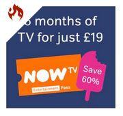 6 Months Now TV Entertainment £19 at NowTV