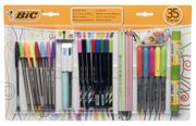 BiC 35 Piece Essentials Set, Assorted Ink