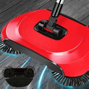 Spin Sweeper Broom Rotating