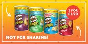 Pringles 70g Packs Get 2 for £1.50.