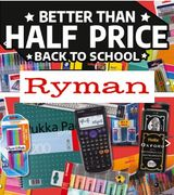 BACK to SCHOOL! Stationery BETTER than HALF PRICE at RYMAN