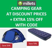 GOING CAMPING? TENTS & AIRBEDS at SUPER CHEAP PRICES + MORE OFF CODE