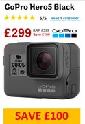 £100 off GoPro Hero5 Black