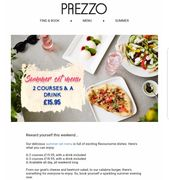 Prezzo Summer Set Menu