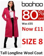 Are You a Petite Size 8? Like pink? This coat's for you! 80% off