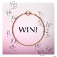 Win a Pandora Rose Bracelet and 4 Pandora Alphabet Charms