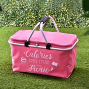Foldable Picnic Basket in Pink Other Colours Available in Store