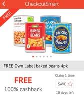 4 X Tins of Supermarket Own Brand Beans
