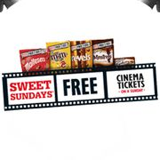 'Free' Cinema Ticket to Use on a Sundays in Promo Choc Packs