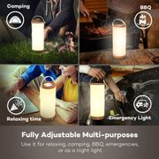 Table Lamp, Portable Night Light, Touch Sensor Bedside Lamp, £14 with Promotion