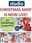 STUDIO CHRISTMAS SHOP is OPEN NOW! Bargains from 99p