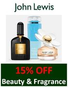 15% off Beauty & Fragrance at JOHN LEWIS