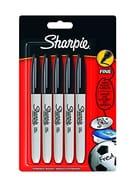 Sharpie Fine Point Permanent Marker - Black, Pack of 5