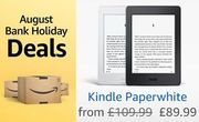 £20 off at AMAZON: Kindle Paperwhite E-Reader