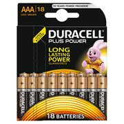 Duracell plus Power Type AAA or AA Alkaline Batteries, Pack of 18