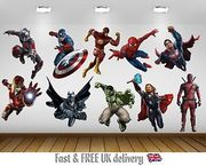 SuperHero Kids Bedroom Vinyl Decal Wall Art Sticker - 10 Character Selection