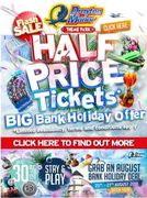 *HALF PRICE TICKETS* at Drayton Manor Park for Bank Holiday Weekend