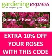DO YOU LOVE ROSES? Gardening Express - EXTRA 10% ROSES