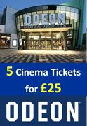 Five Cinema Tickets for £25 at ODEON