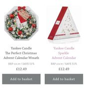 Yankee Candle Christmas Advent Calendars