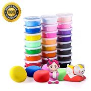 Air Dry Clay, 24 Colors Ultra Light Modeling Clay,