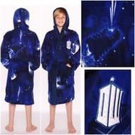 Official Doctor Who Tardis Children's Dressing Gown / Bathrobe