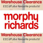 Morphy Richards WAREHOUSE CLEARANCE SALE Huge Discounts + MORE OFF WITH CODE