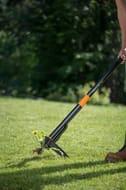 Fiskars Xact Weed Puller Stainless Steel Handle/Plastic Handle, Black/Orange