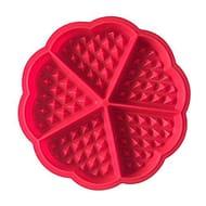 DTOL Bakeware High Quality Silicone Waffle Baking Molds Mini Heart Waffle Mold