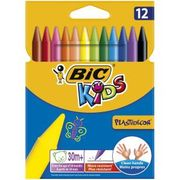 Bic Kids Plastidecor Triangle Colouring Crayons 12pk Only £1