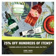 25% off Many Items at the Body Shop