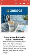 Free Spiced Pumpkin Latte