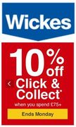 10% EXTRA OFF EVERYTHING at Wickes This Weekend With Code