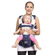 Bebamour Hipseat Baby Carrier Backpack 5 in 1 Carry Ways Carrier Sling