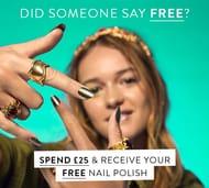Free Full-Size Nail Polish (Worth £15) on £25 Orders