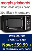 SAVE £40! Cheap Price Morphy Richards Microwave 20L with CODE!