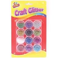 12 Glitter Pots